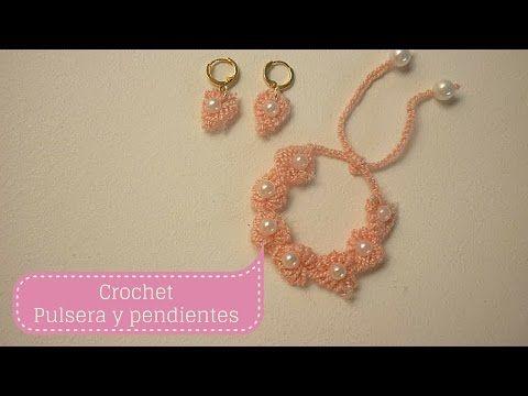 72ce8c5dfa48 Manualidades PULSERA y PENDIENTES para niña  Crochet y Bisutería DIY ♥ Sor  Amparo Arredondo R. - YouTube
