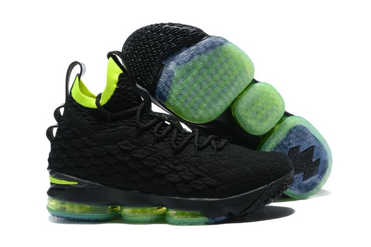 0f35f22a8eb ... spain new style nike lebron 15 mens original basketball shoes sneakers  coal black pale green 690d4 ...
