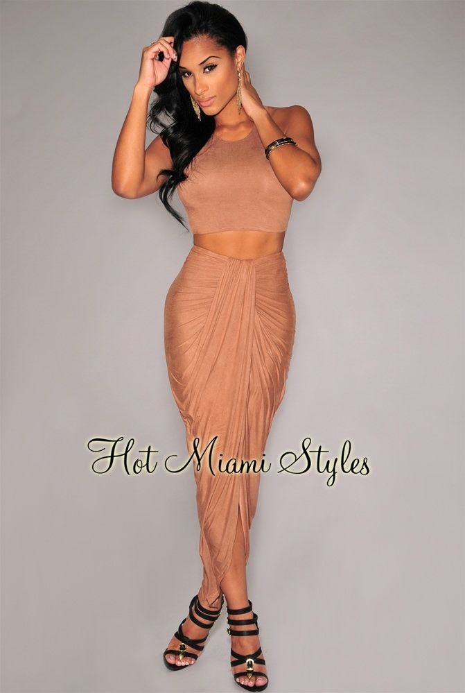 Mocha Cascading Two Piece Set