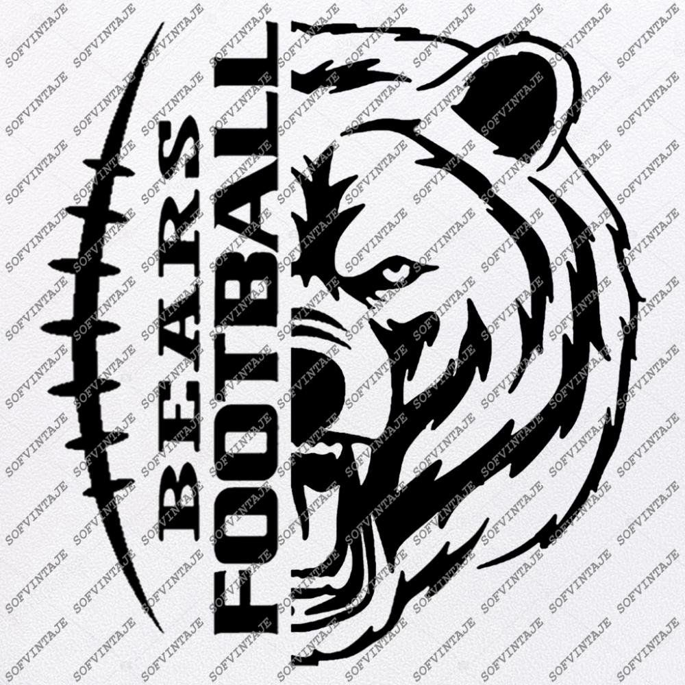 Bears Football Svg File Football Svg Bear Svg