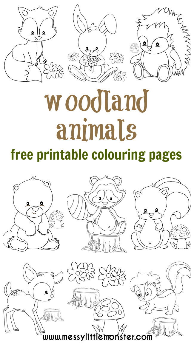 Woodland Animal Colouring Pages Fox Coloring Page Animal Coloring Pages Colouring Pages