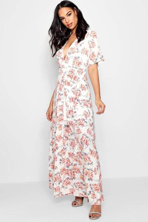 Boutique Floral Kimono Sleeve Maxi Dress Boohoo Maxi Dress With Sleeves Cheap Maxi Dresses Elegant Dresses Classy