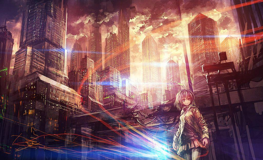 壁紙 2次元の幻想的な風景 夜景の画像part1 禿同ニュース速報 まとめサイト 幻想的 風景 アニメの風景