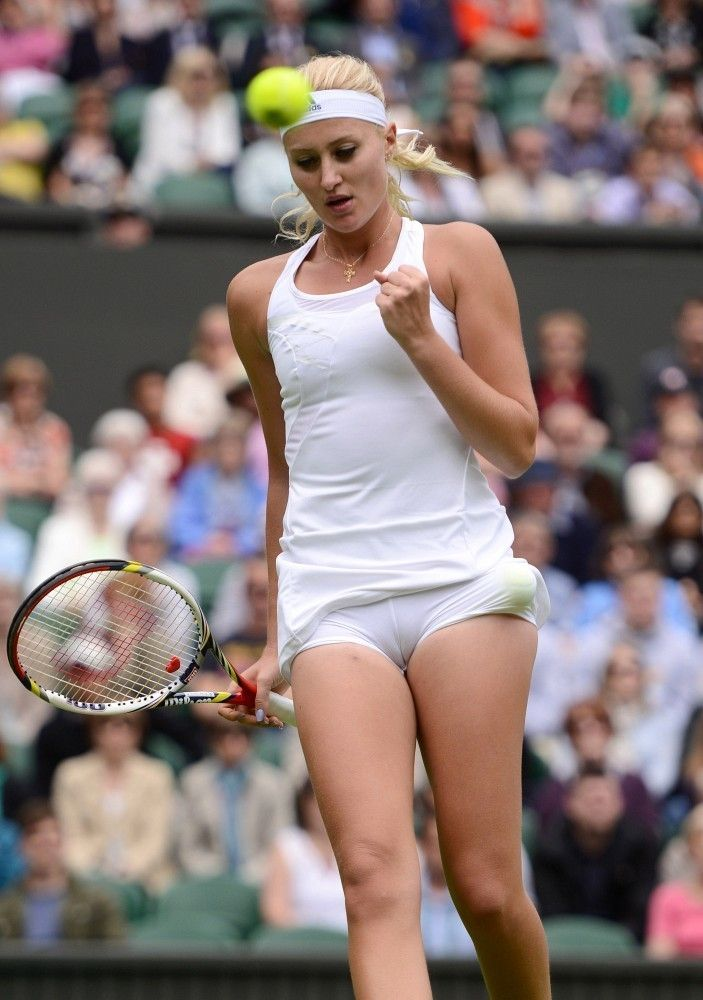 Her Hot accidental upskirt photos of players