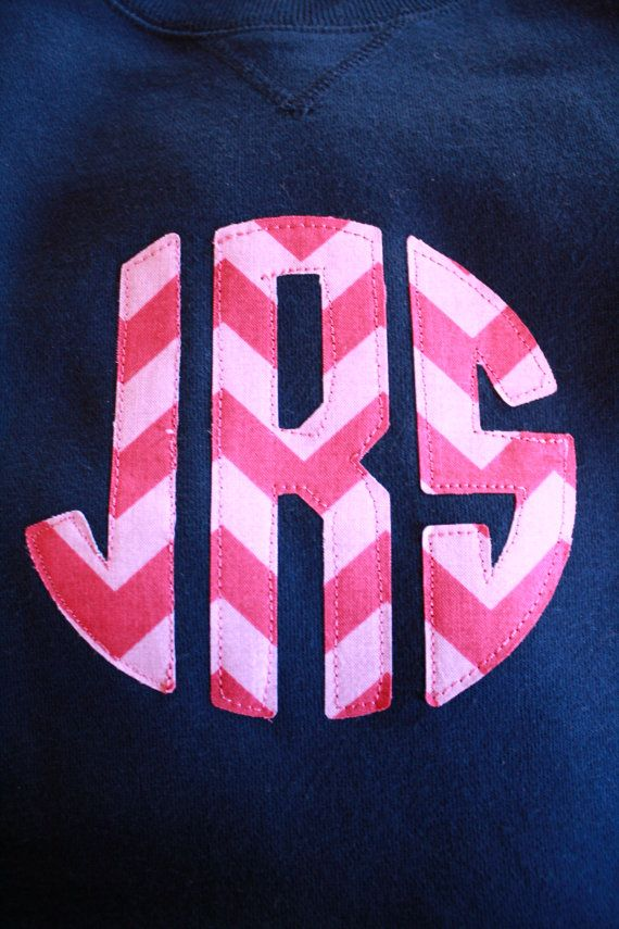 diy iron on applique circle monogram