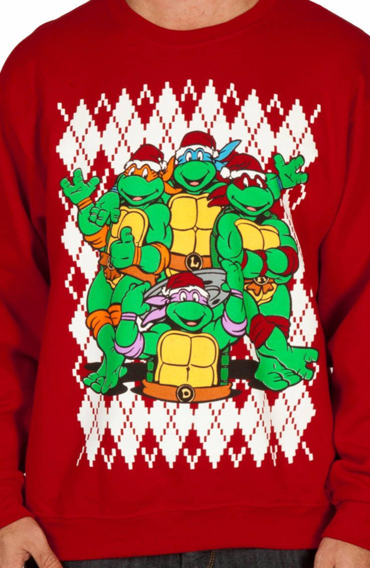 Teenage Mutant Ninja Turtles Christmas Faux Ugly Sweater | Geeky ...