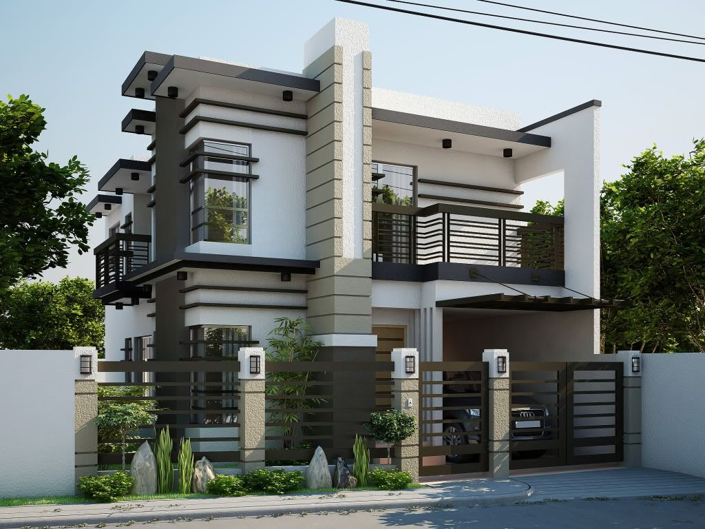 Modern Minimalist Home Design two storey modern house. brighter color perhaps? | dom / house