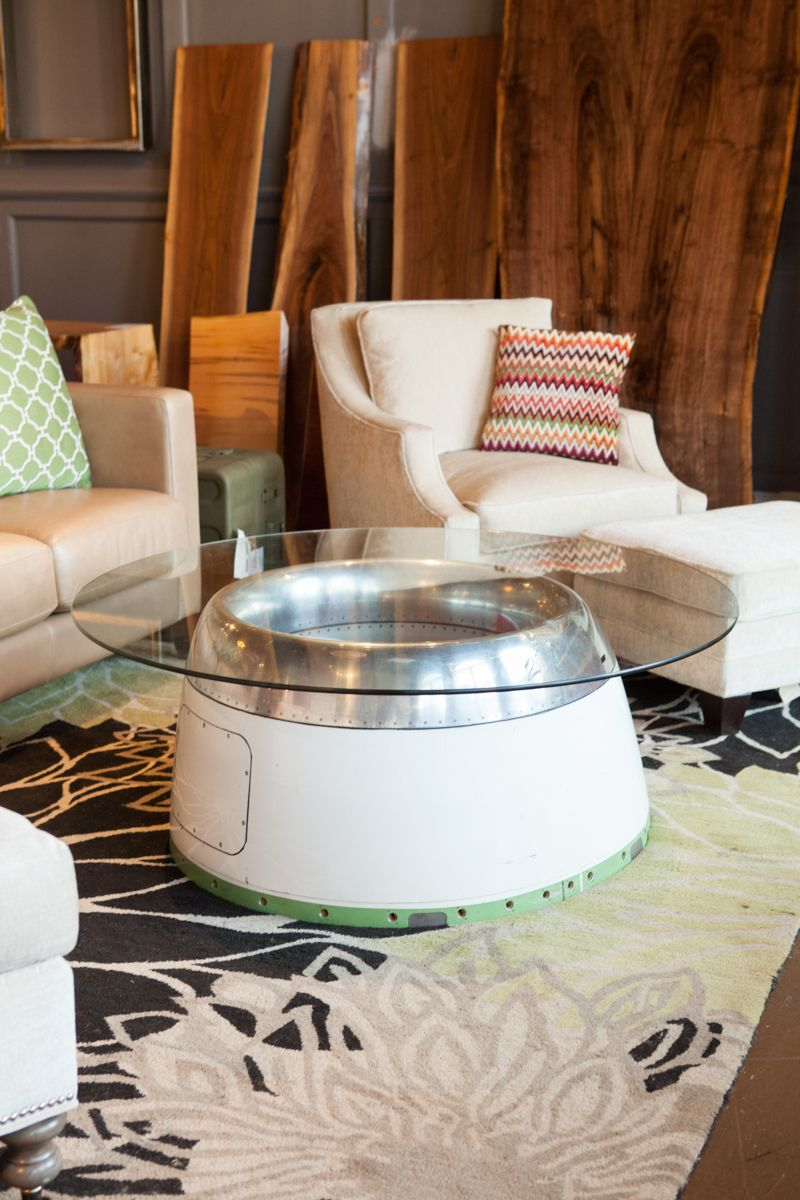 Do you love this airplane cowl coffee table Well so did everyone