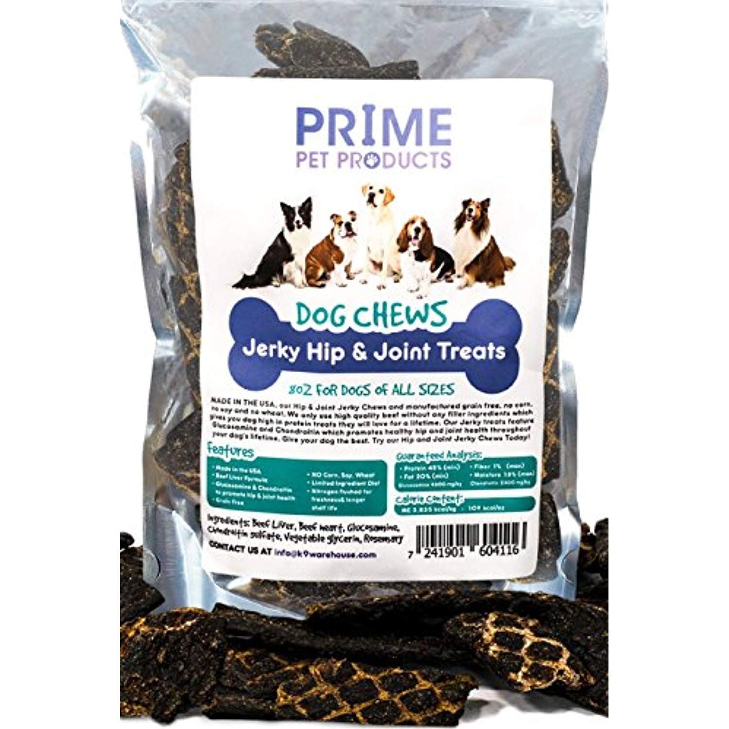 Healthy Jerky Dog Treats Made In Usa 8oz Bag Source Of
