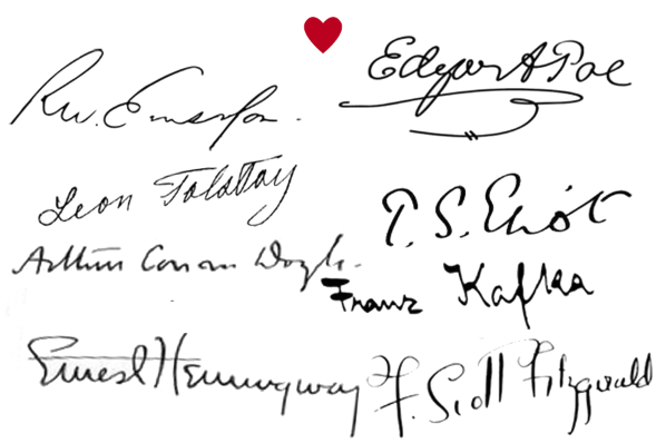 Famous Author Signatures Books Literature The Sexy Librarian