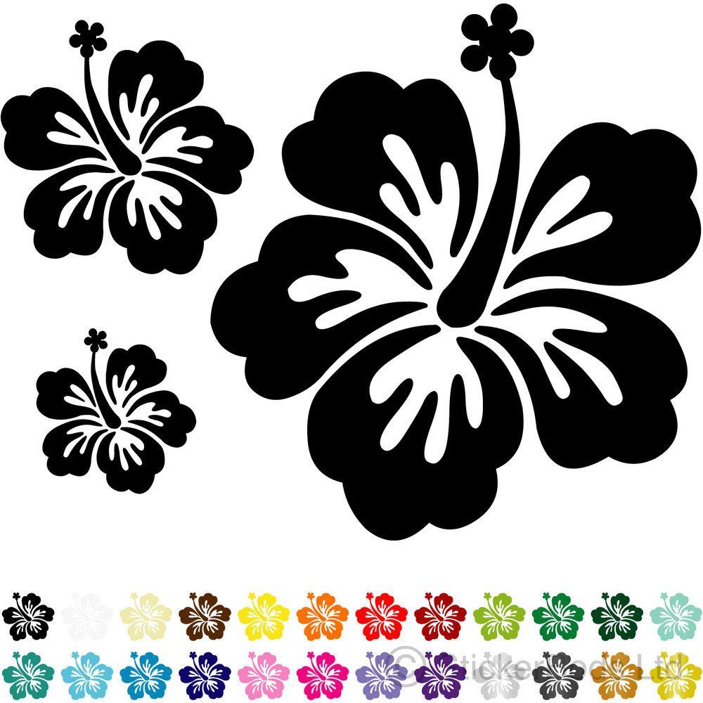 20 hibiscus flower car stickers wall stickers decals hibiscus hibiscus hibiscus flower car stickers izmirmasajfo