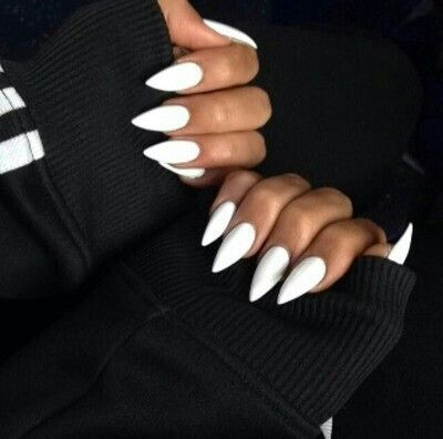 White Claw Nails Acrylic Nails Stiletto Long Pointed Nails Pointed Nails