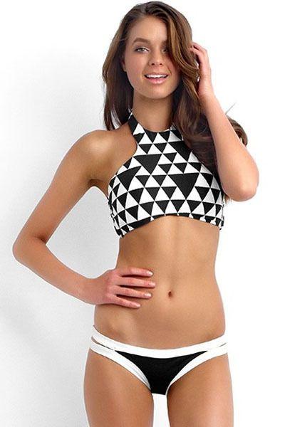 24a916b00 Bikini triangulos blancos y negros - Bikinis online originales ...