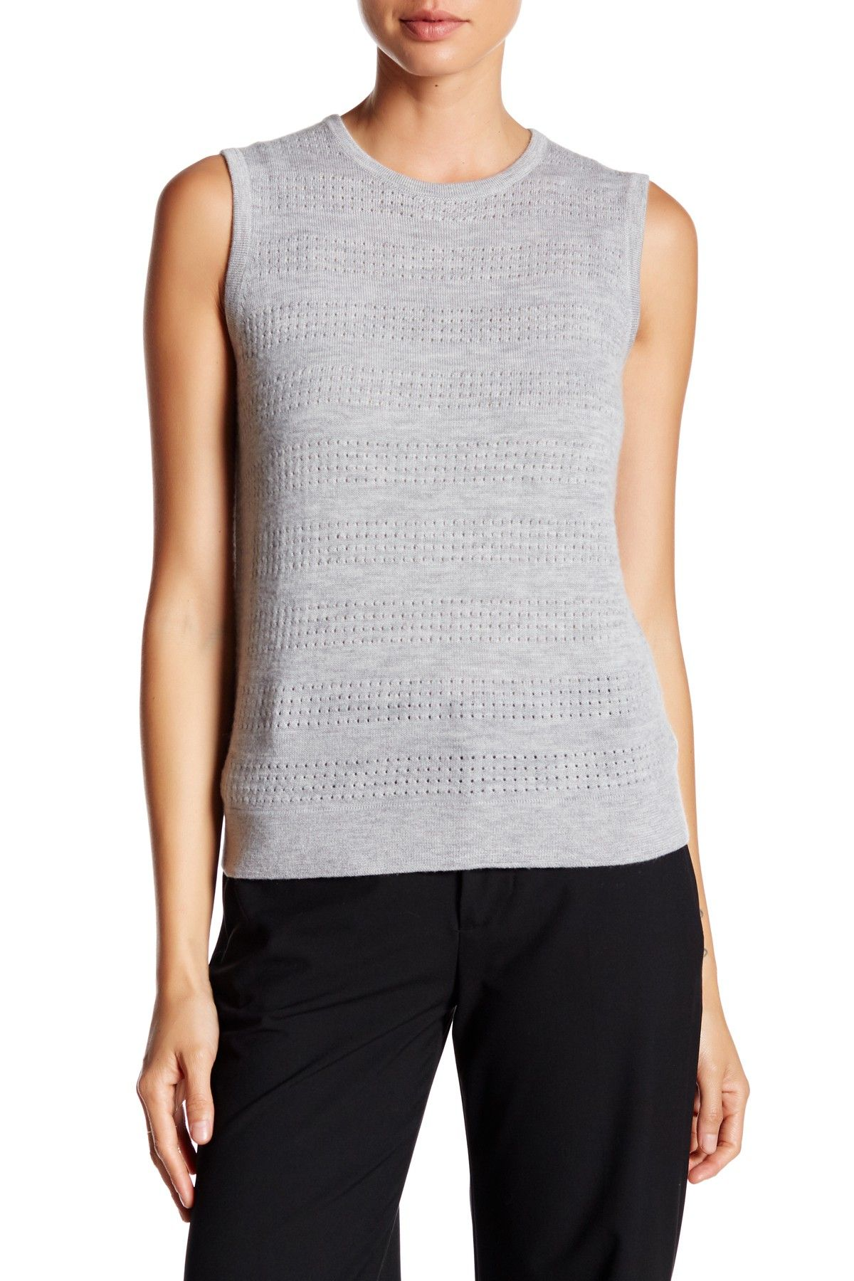 Yigal Azrouel Woven Combo Cashmere Sweater
