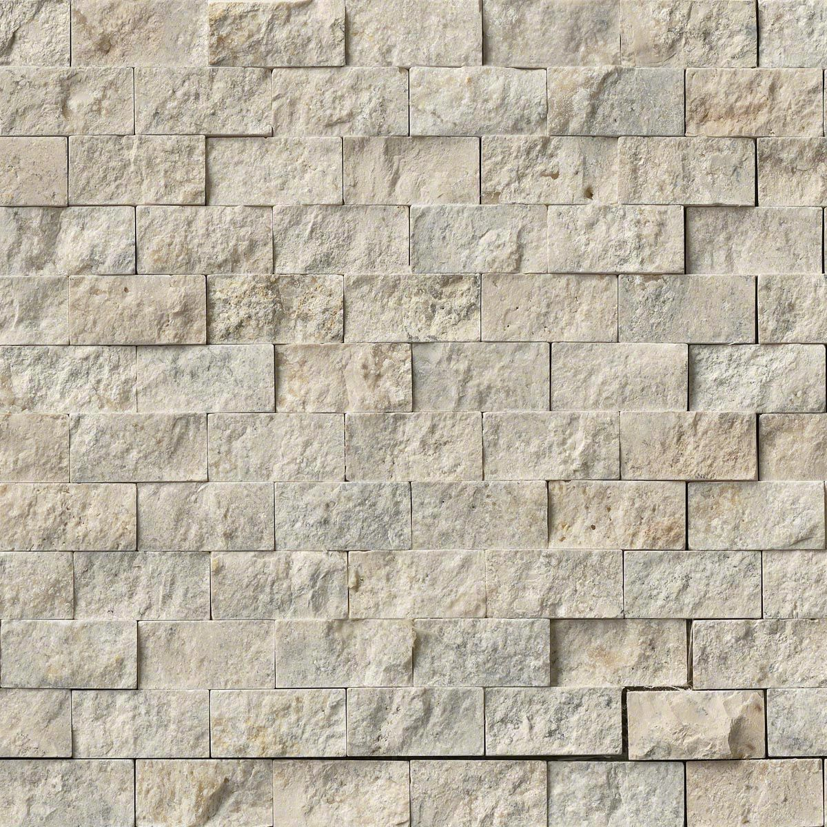 Puebla 1x2 Splitface In 12x12 Mesh Backsplash Stone Tub Wall Tiles