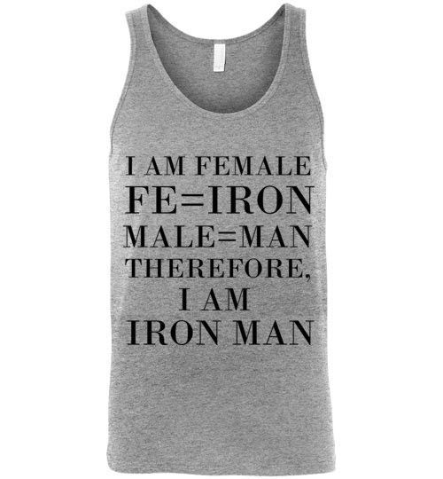 Female Iron Man Unisex Tank Top