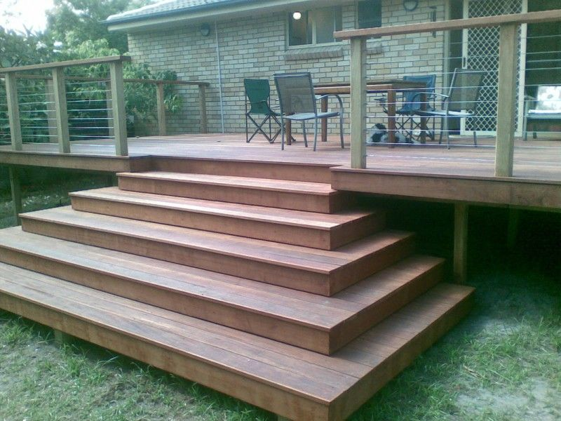 Best Sunshine Coast Decking Stairs Hardwood And Timber Stairs 400 x 300