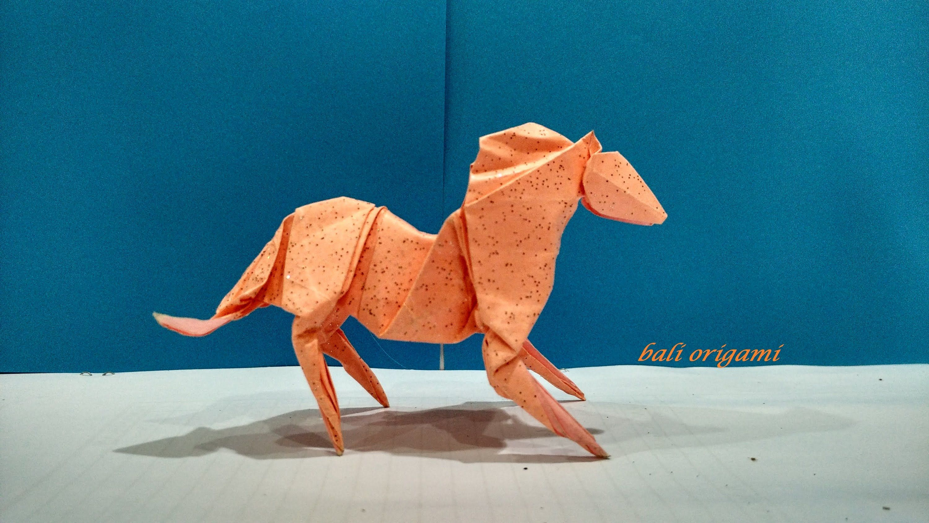 How To Make An Origami Horse Designed By Roman Diaz Difficulty Level Intermediate Shaping May Be A Little Tricky For Beginners