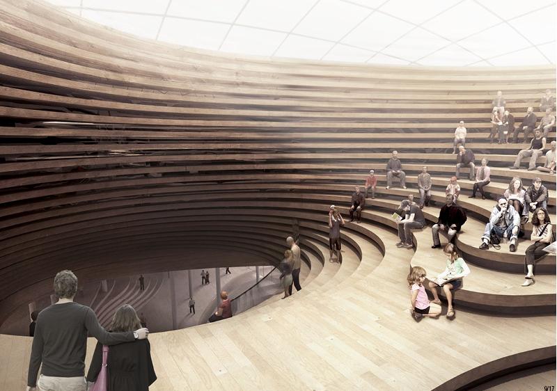 Jaja landscape library architecture pinterest trazos for Arquitectura parametrica