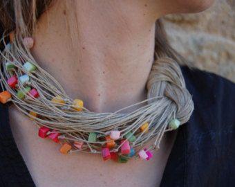 collares de coral rojo y rosa – Etsy ES
