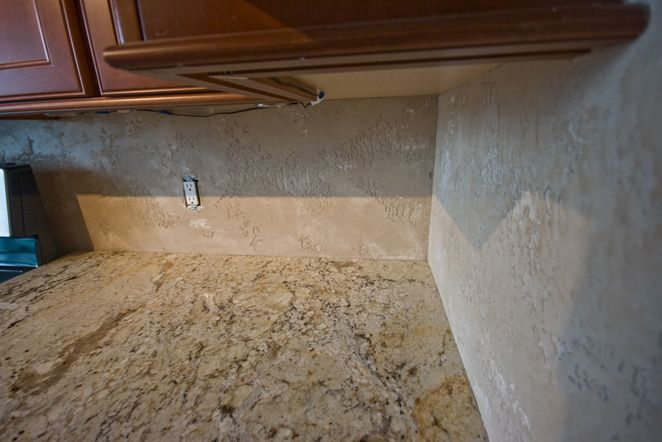 Sideangle Jpg 662 442 Pixels Venetian Plaster Backsplash Kitchen Backsplash
