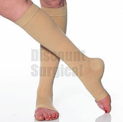 Opaque Knee-Hi 40-50 mmhg Open Toe. Prescription strength compression.