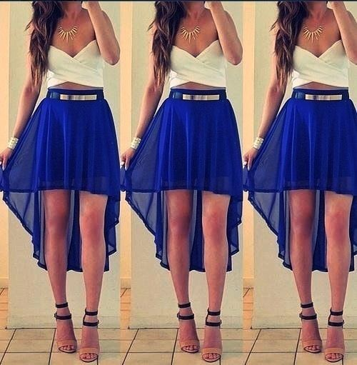Love crop tops and high waisted skirts | Graduation stuff ...
