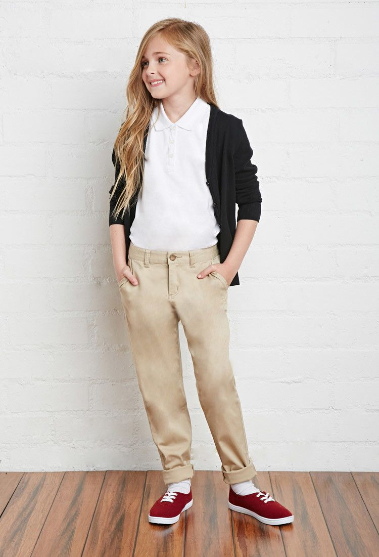 Model Dickies School Uniform Pants Girls  Junior Stretch Straight Leg Pant