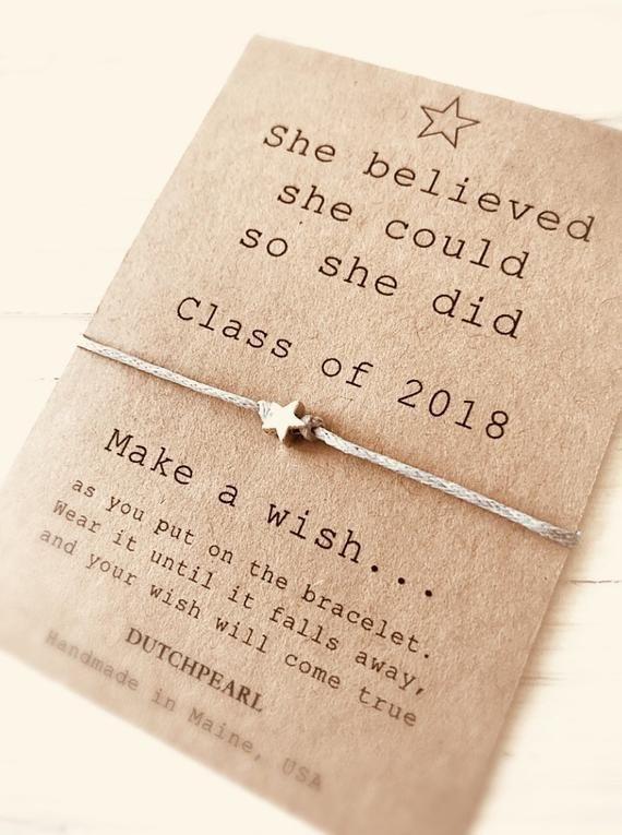 Graduation gift 2020 - wish bracelet - high school college kindergarten - best friend bracelet - friendship jewelry dutchpearl
