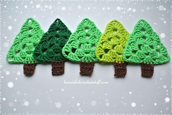 Ganchillo árbol de Navidad patrón libre | Hermosa ganchillo materia ...