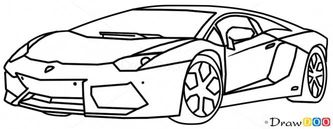 How To Draw Lamborghini Aventador Supercars Drawings In 2019