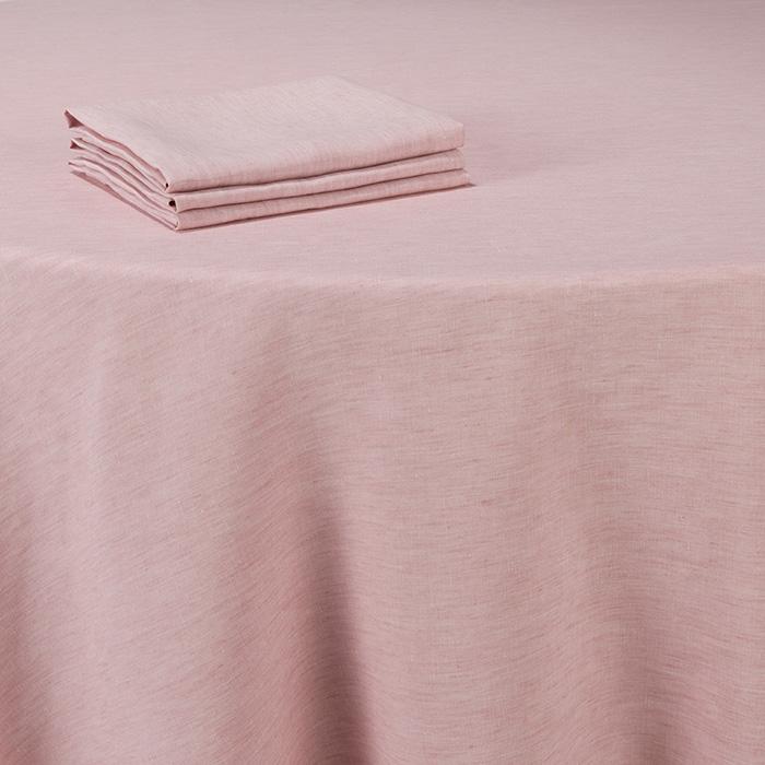 Nappe lin rose 290 x 290 cm - Options Location. Ambiance douce et ...