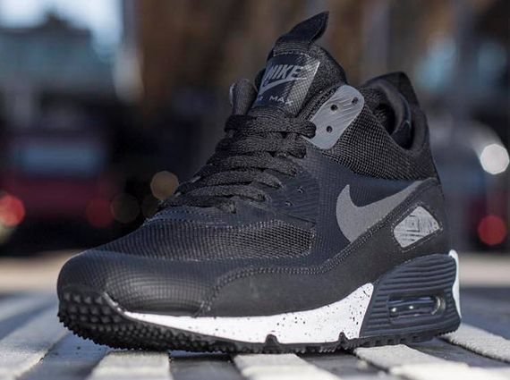 nike air max 90 sneaker boot black\/dark charcoal\/white