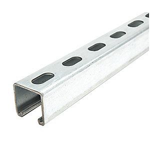 Also Known As Kindorf Channel Slotted Standard 1 5 8 X 1 5 8 Strut Channel Pre Galvanized Steel 12 Ga 10 Ft The Struts Galvanized Steel Steel