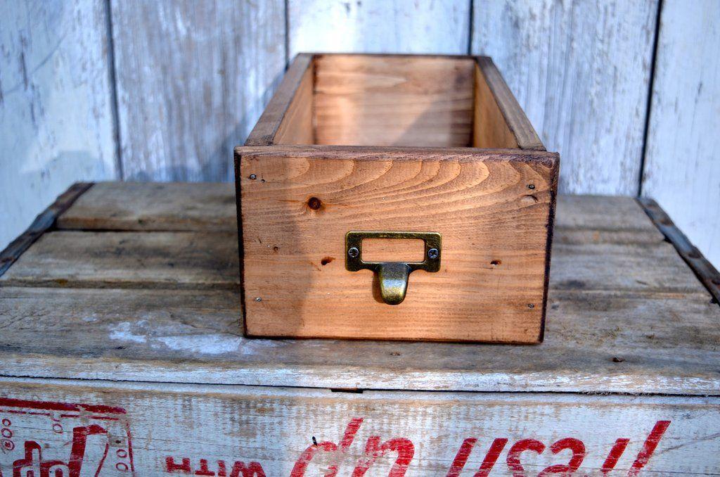 Card catalog library drawer box card catalog drawer box