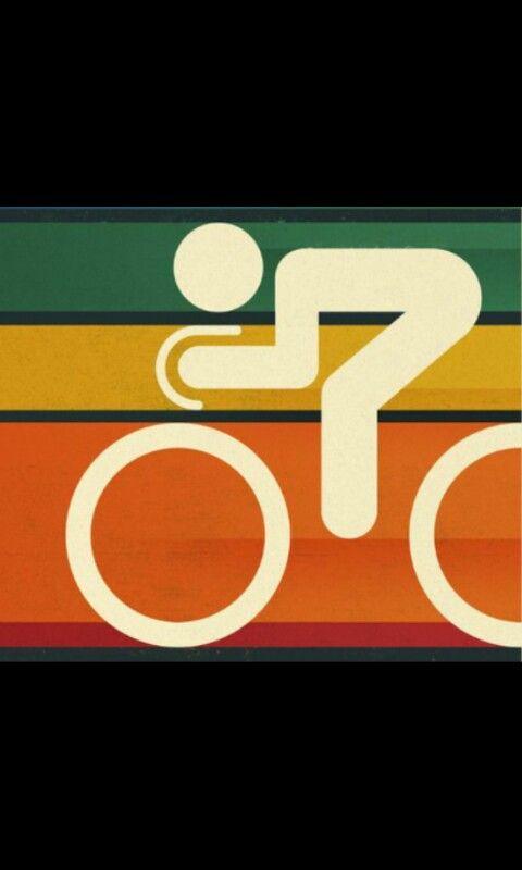 Bike Bici Bicicleta Carrera Posteres Retro Cartel De