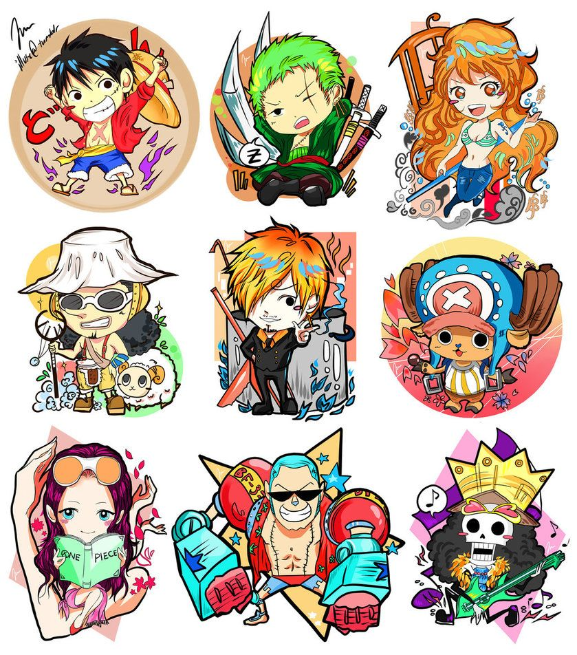 One Piece (chibi Strawhats) by 10Juu on DeviantArt
