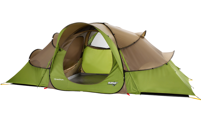 QUECHUA TENT - 4 people 2 bedrooms pitched in 2 minutes Folds away  sc 1 st  Pinterest & QUECHUA TENT - 4 people 2 bedrooms pitched in 2 minutes Folds ...