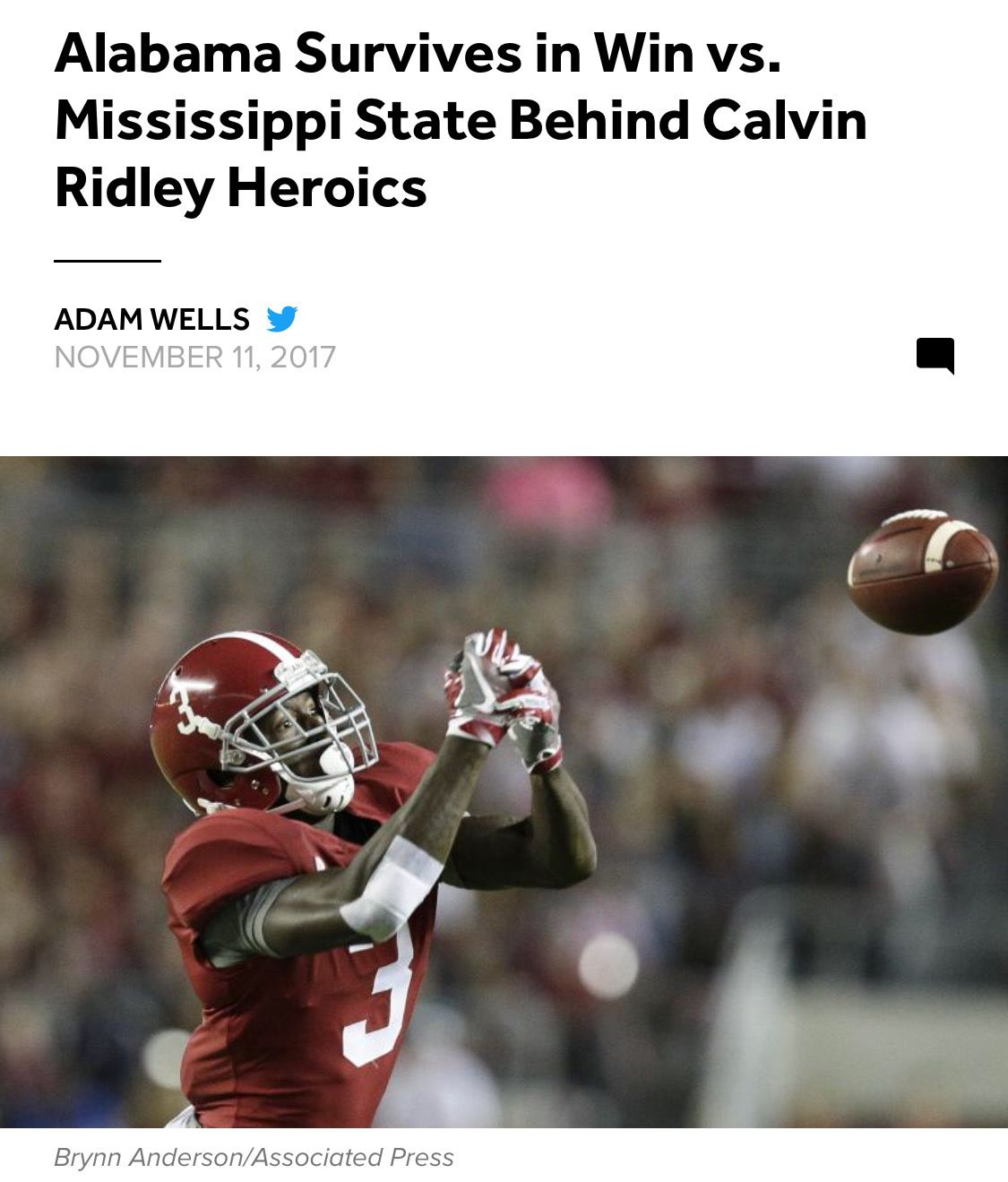 Calvin Ridley Shines Vs State Alabama 31 Miss St 24 In Starkville Alabama Rolltide Bama Builtbybama Rtr Cri Alabama Crimson Tide Alabama Alabama Fans