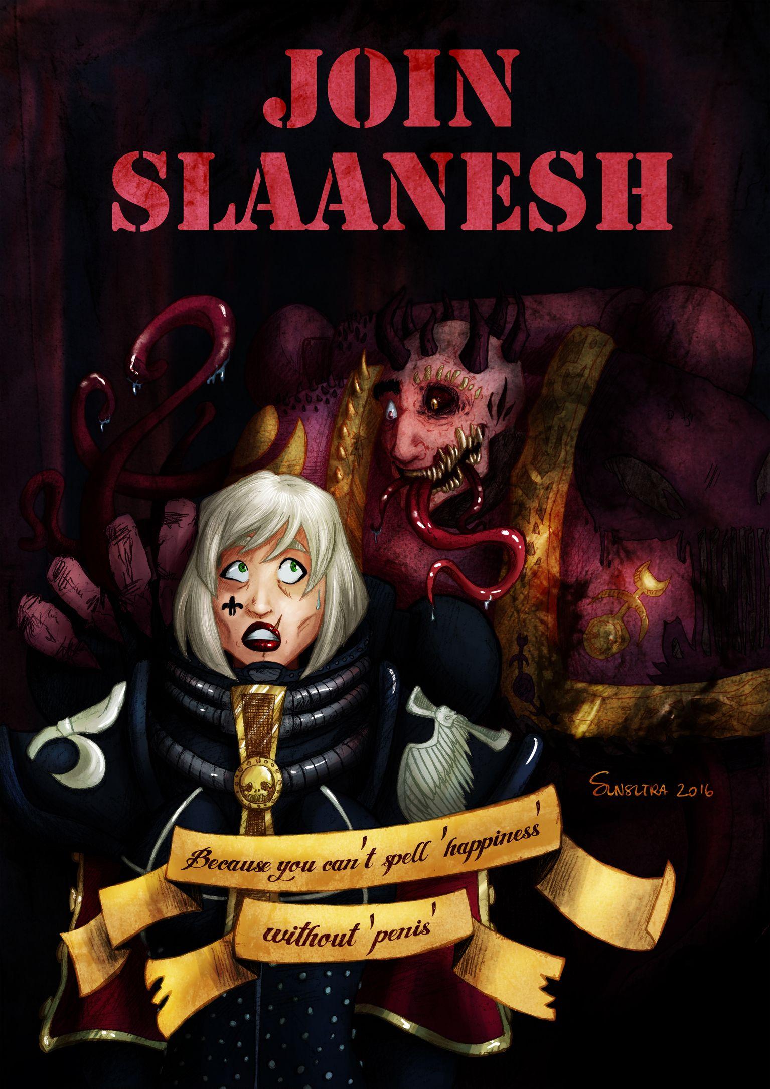 slaanesh meme - Google Search   Warhammer 40k artwork ...