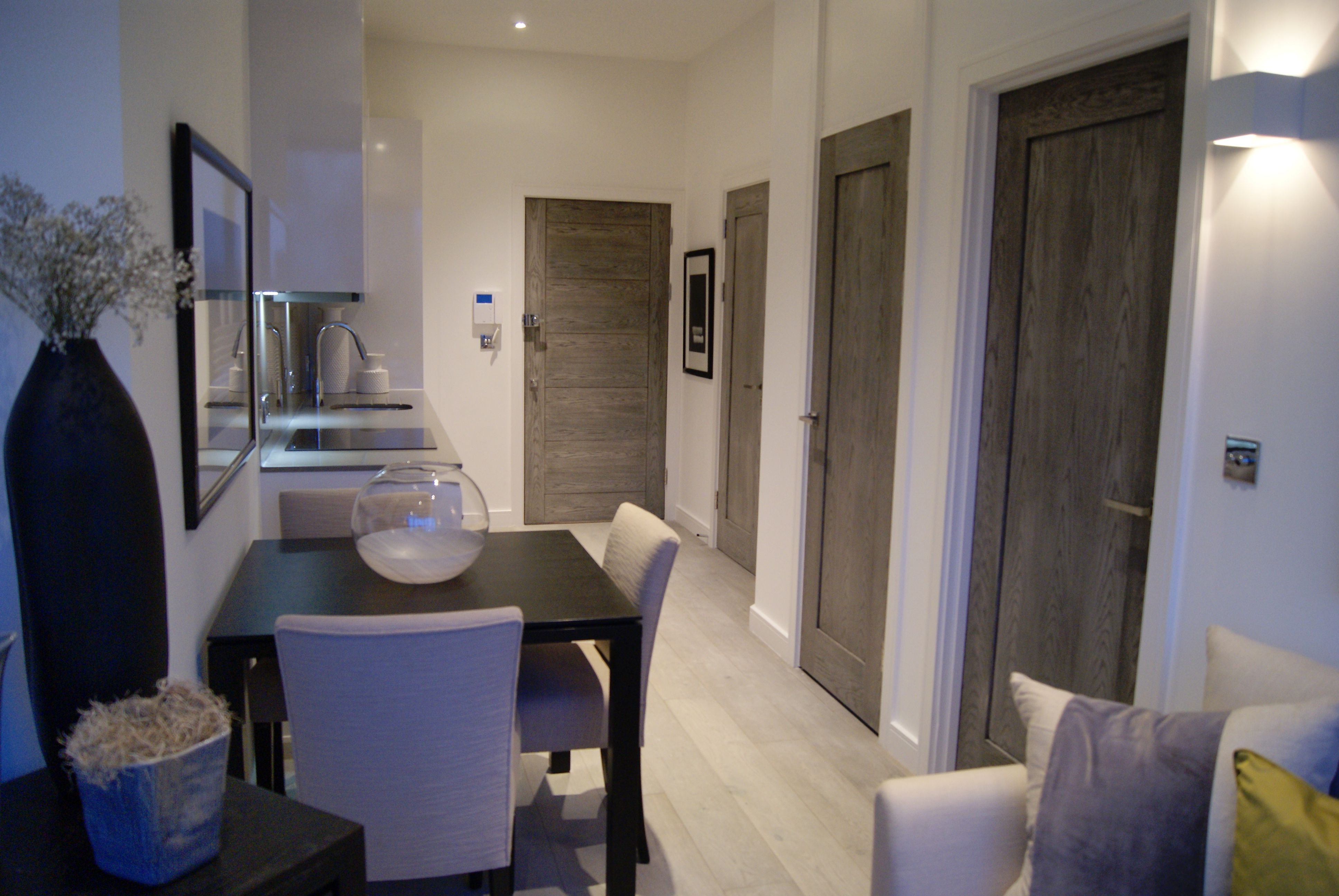 THE VERONA APARTMENTS SLOUGH BY KELLY HOPPEN Oak 190mmW And 830 Doors Throughout The Luxury Apartment Building With Interiors Designed By Kelly Hoppen