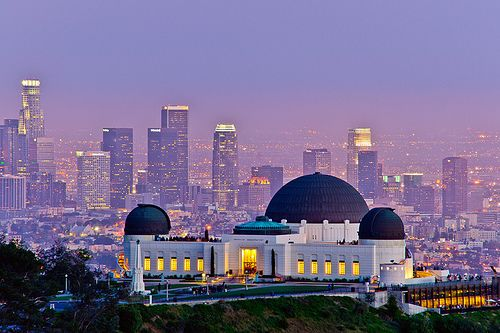 Griffith Park Observatory Overlooking Downtown L A California Travel Griffith Observatory Places To Go