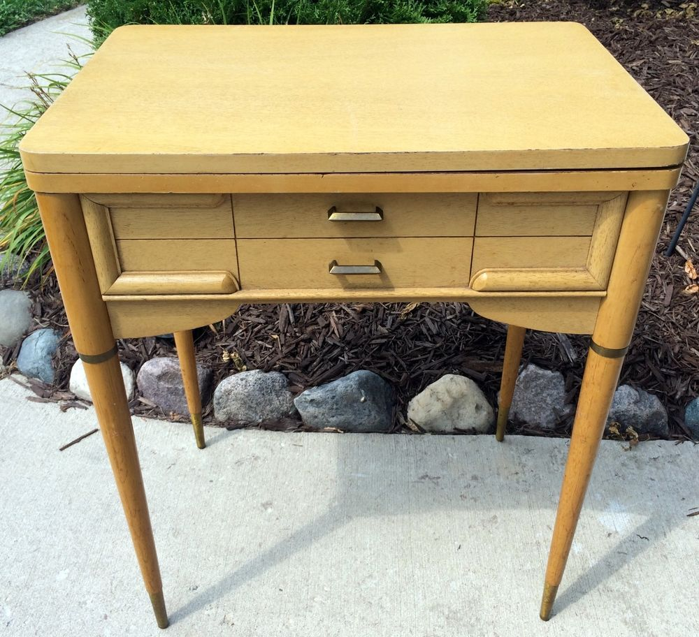 Empty vintage singer sewing machine cabinet table 301 401 403 404 ...