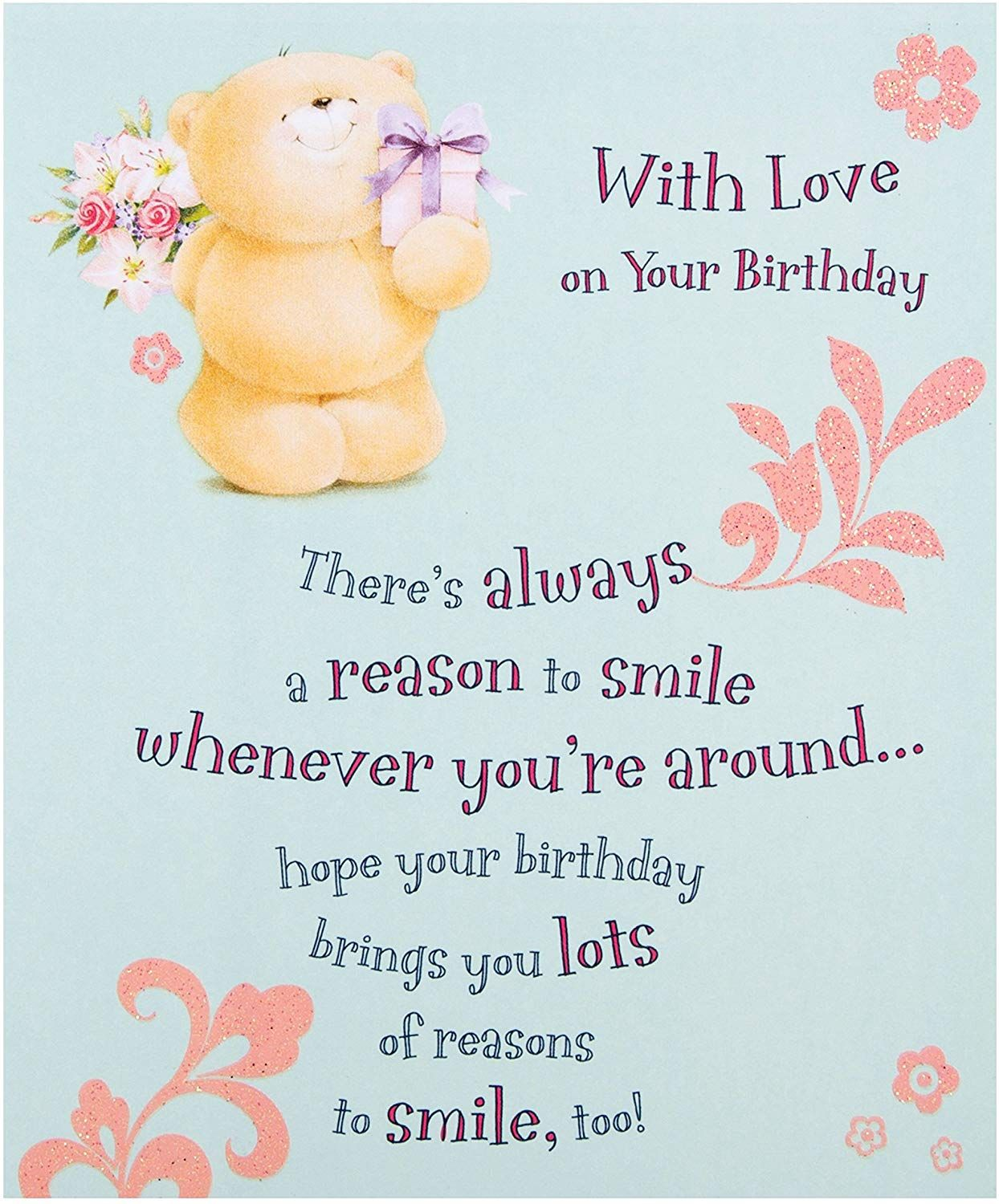 Hallmark Forever Friends Birthday Card With Love Small Amazon Co Uk Welcome Birthday Cards For Friends Birthday Cards Friend Birthday