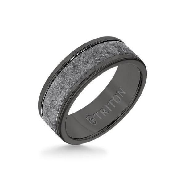8mm Black Tungsten Carbide Ring Meteorite Insert With Round Edge In 2020 Black Tungsten Carbide Ring Mens Wedding Bands Tungsten Mens Wedding Bands