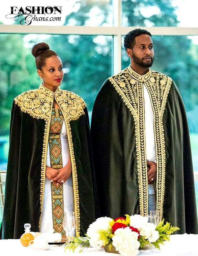 Briad and groom in traditional wedding Ethiopian royalty kebab ...