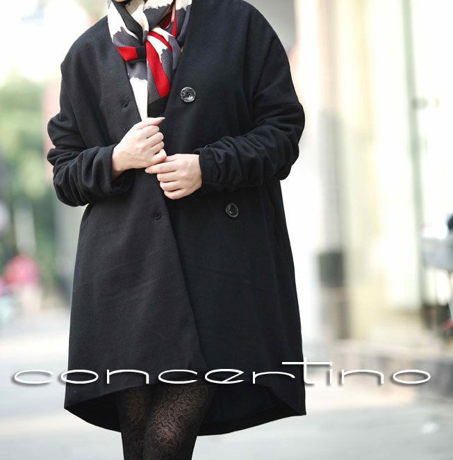 Black Wool Coat Winter Coat Women Cashmere Coat  Tulip Coat Wool Jacket Winter Jacket Plus Size Coat 1X 2X 3X Long Wool Coat Women. $89.00, via Etsy.