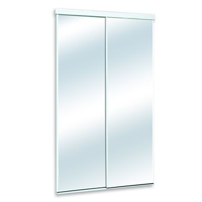 Ordinaire White Mirror/Panel Clear Sliding Closet Interior Door (Common: 48 In X 80 In;  Actual: 25 In X 80.5 In) | *Loweu0027s Canada* | Pinterest | Mirror Panels, ...