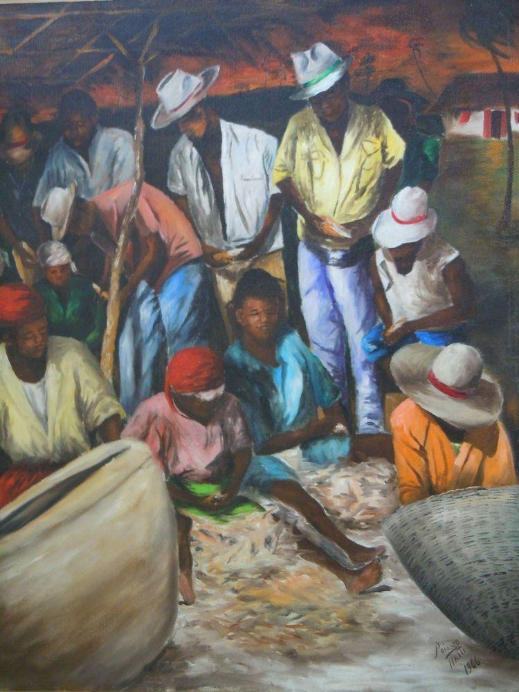 Original Haitian Painting By Louverture Poisson Haitian