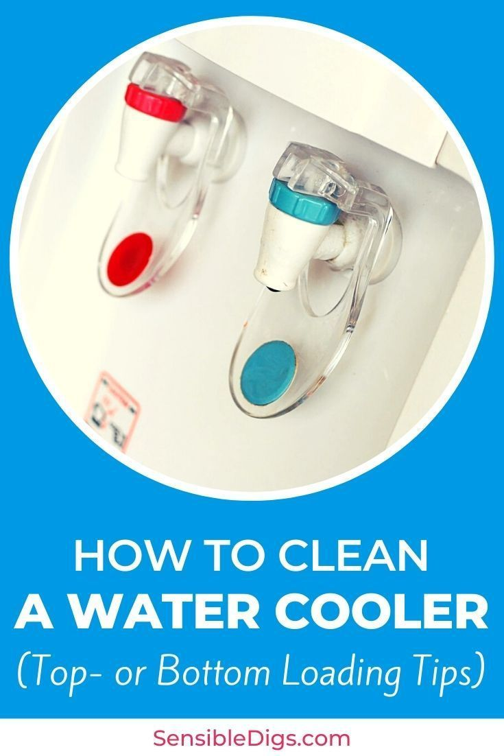 How To Clean A Water Cooler Top Or Bottom Loading Tips Water Coolers Cleaning Diy Water